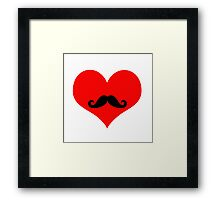 Hipster Love Framed Print