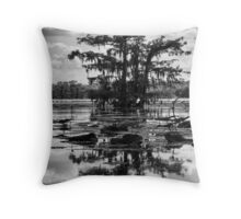 A Tree Grows in the Swamp Throw Pillow