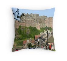 Bamburgh and Castle Throw Pillow