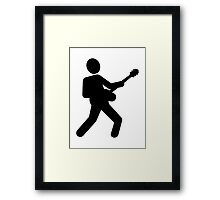 Electric guitar guitarist Framed Print
