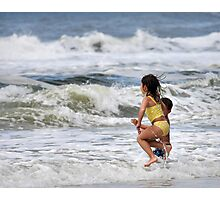 Wave Jumpers Photographic Print