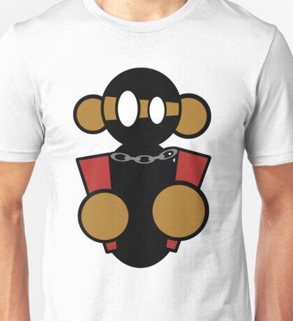 Ninja Monkey with Nunchucks Unisex T-Shirt