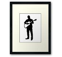 Guitarist musician Framed Print