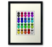 The Stig - Multi-Coloured Framed Print