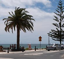 'HANG ON TO YOUR HATS!' Brighton Esplanade, Adelaide Sth. Aust. by Rita Blom
