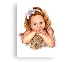 Blond Haired Girl Canvas Print