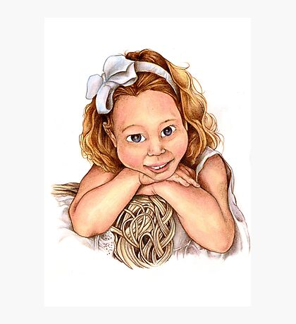 Blond Haired Girl Photographic Print
