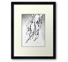 Weight of the Winter Season Framed Print
