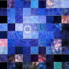 Blue Mosaic-Available As Art Prints-Mugs,Cases,Duvets,T Shirts,Stickers,etc by Robert Burns