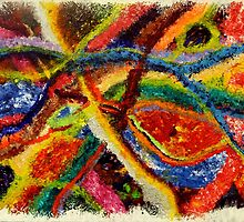 Abstract Art Acrylic Painting Original Canvas Art Titled: Wild Colors by ZeeClark