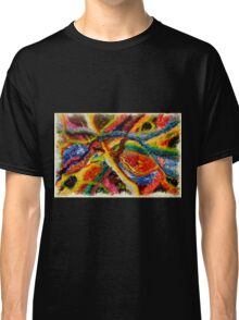 Abstract Art Acrylic Painting Original Canvas Art Titled: Wild Colors Classic T-Shirt