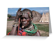TRIBAL LADY - ETHIOPIA Greeting Card