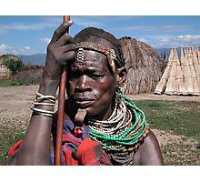 TRIBAL LADY - ETHIOPIA Photographic Print