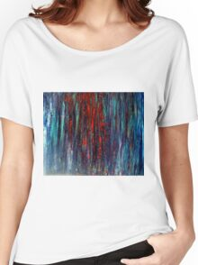 Abstract Painting Modern Original Art Acrylic Titled: Wonderall Women's Relaxed Fit T-Shirt