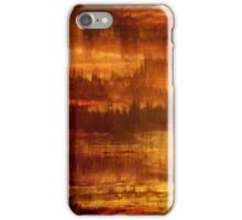 Abstract Painting Modern Original Art Acrylic Titled: Golden Future iPhone Case/Skin