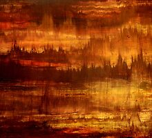 Abstract Painting Modern Original Art Acrylic Titled: Golden Future by ZeeClark