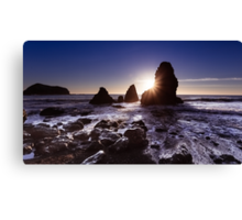 Sunset at Rodeo Beach Canvas Print