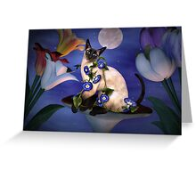 Siamese Moonlight  Greeting Card