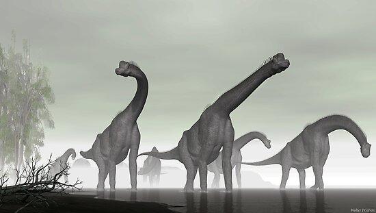 Brachiosaurus by Walter Colvin