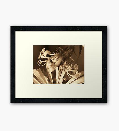 Flowering curls-Sepia Framed Print