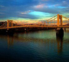 Bridge over the river by Chris  Hayworth