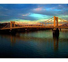 Bridge over the river Photographic Print