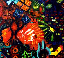 Colorful Abstract Painting Original Art Titled: Child Graffiti  by ZeeClark