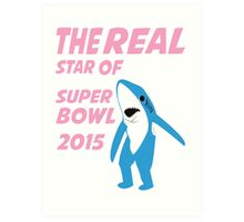 Super Bowl Star The Shark Art Print