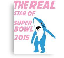 Super Bowl Star The Shark Canvas Print