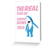 Super Bowl Star The Shark Greeting Card