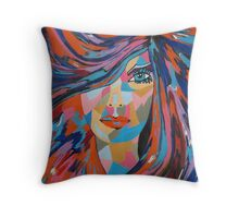 Psychedelic Jane Throw Pillow