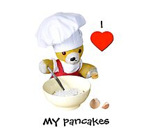 I love my pancakes Photographic Print