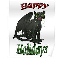 Toothless - Happy Holidays Poster