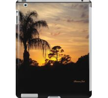 Fast Moving Clouds at Sunset iPad Case/Skin