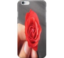 SAY IT WITH A ROSE - HAPPY VALENTINES DAY iPhone Case/Skin