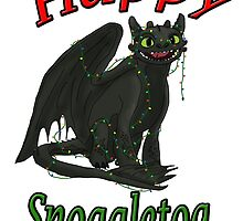 Toothless - Happy Snoggletog by tygerwolfe