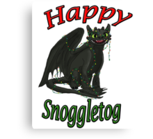 Toothless - Happy Snoggletog Canvas Print