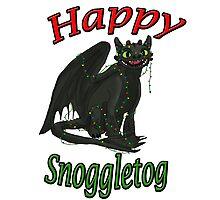 Toothless - Happy Snoggletog Photographic Print