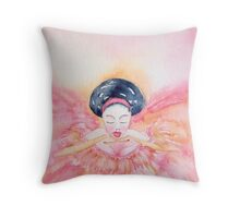 Piccola 'Le Ballerine Piccoline'  © Patricia Vannucci 2008  Throw Pillow