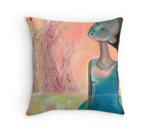 Dreamscape 1 (Sometimes, I hear the forrest whispering...) Throw Pillow