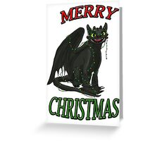 Toothless - Merry Christmas Greeting Card