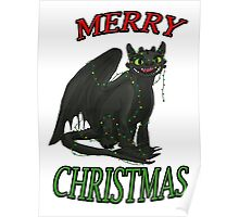 Toothless - Merry Christmas Poster