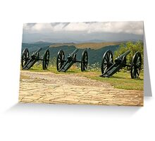 Guns and Flowers, Shipka, Bulgaria Greeting Card