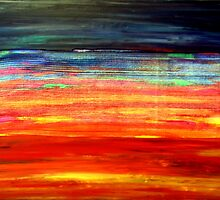 Colorful Abstract Painting Original Art Titled: Under the Skin by ZeeClark