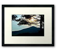 sunrise in the great smoky mountains Framed Print
