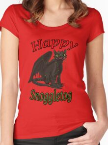 Toothless - Happy Snoggletog Women's Fitted Scoop T-Shirt