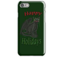 Toothless - Happy Holidays iPhone Case/Skin