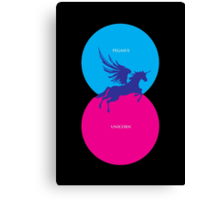 Pegacorn Venn Diagram (Pegasus + Unicorn) Canvas Print