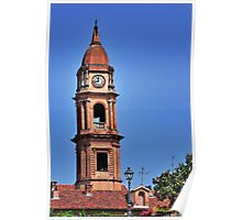 Italian Church Bell Tower at the City of Bra Piedmonte Poster