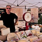 Cheese Stand Market Day in Alba, Piedmont by MaluC